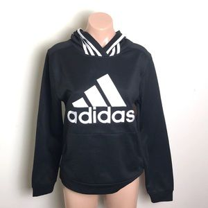adidas Black Logo Hoodie Sweatshirt